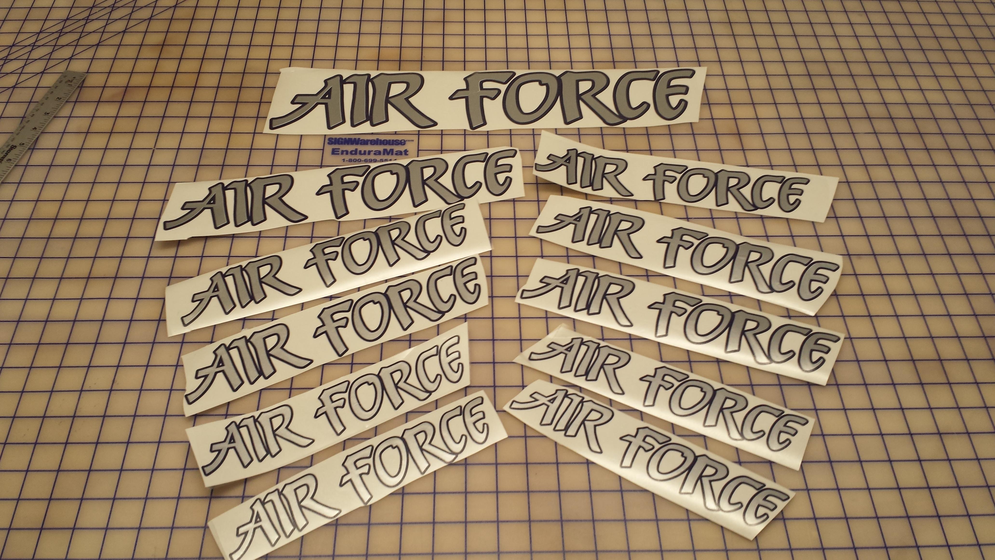 Air Force car decals